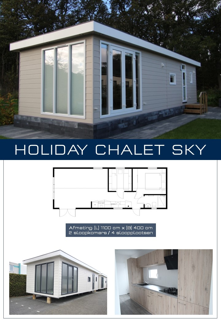 HOLIDAY SKY CHALET 1100X400 – 2 Slpk.